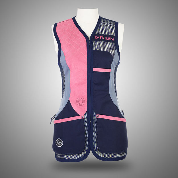 Picture of CASTELLANI WOMENS RIO MESH ALCANTARA VEST 025-159